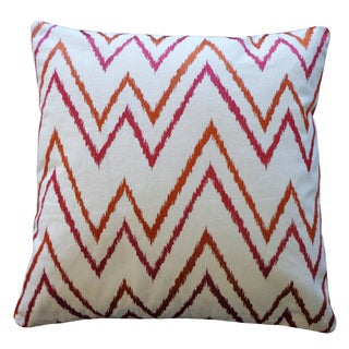 Sierra Rust Pink Throw Pillow