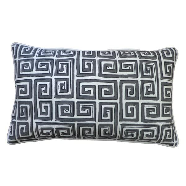 """Handmade Coil Gray Throw Pillow - 12"""" x 20"""""""