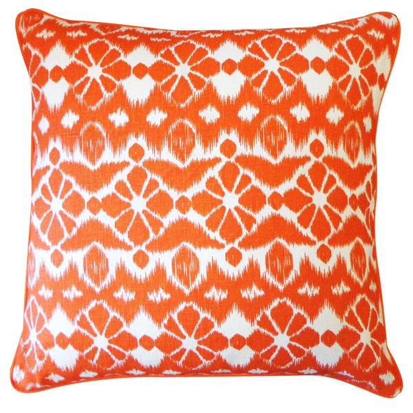 Handmade Trevol Orange Throw Pillow