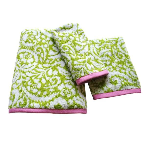Dena Home Ikat Collection Jacquard 3-piece Towel Set
