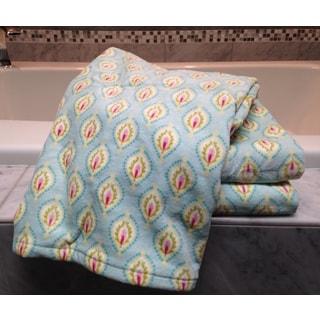 Dena Home Peacock Collection Geo Printed 3-piece Towel Set