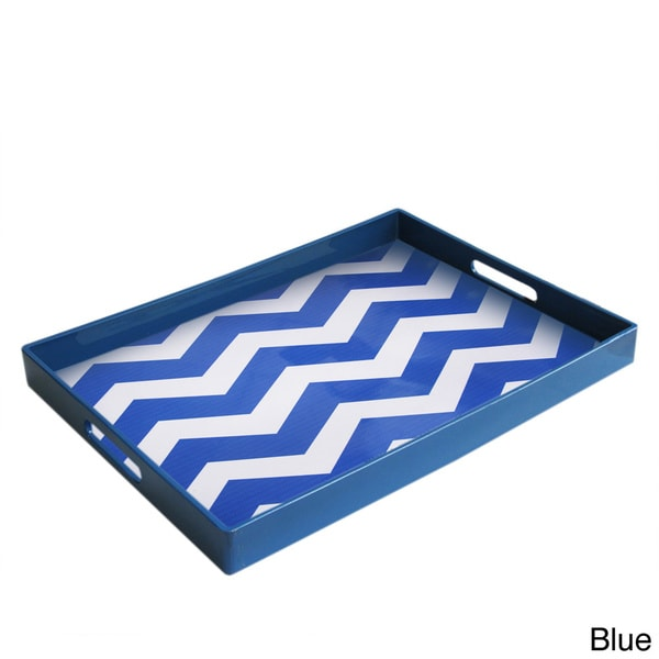Chevron Rectangular Tray