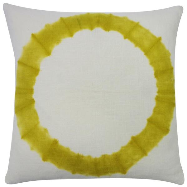 Handmade Dye Chartruese Throw Pillow