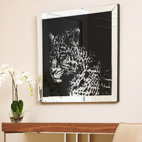 Shop Abbyson Living Cheetah Crystal Wall Mirror Free