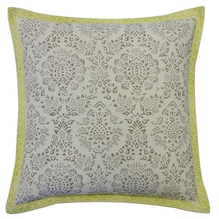 Ratan Cream Throw Pillow