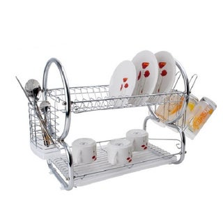Alpine Cuisine Chrome-plated Plate Holder Dish Rack