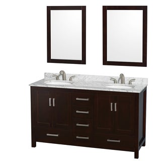 Wyndham Collection Sheffield Espresso 60 Inch Double Vanity
