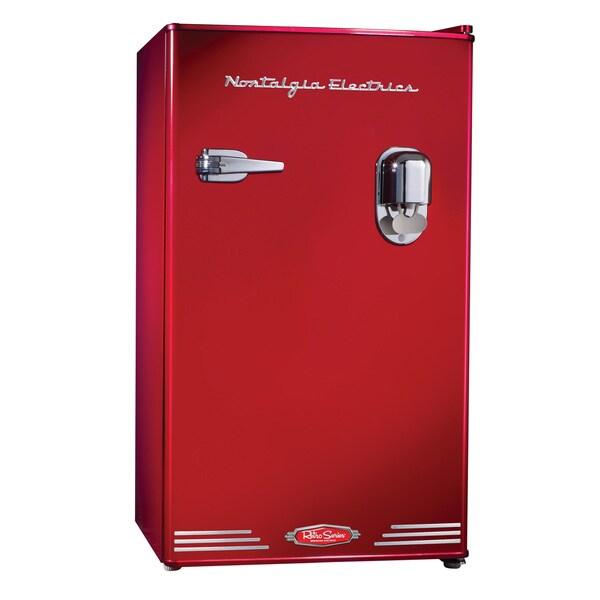 2ee51c4ef42 Magic Chef Retro Mini Refrigerator 3.2 cu. ft. 2-Door Fridge in Red ...
