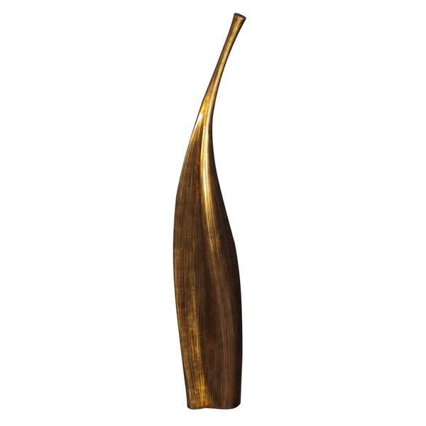 Striped Gold Lacquered Contemporary Vase Free Shipping Today