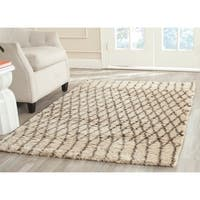 Safavieh Hand-Tufted Casablanca White/ Grey New Zealand Wool Rug - 5' x 8'