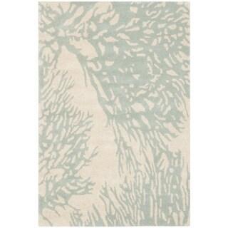 Safavieh Hand-Tufted Bella Beige/ Blue Wool Rug (2' x 3')