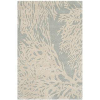 Safavieh Hand-Tufted Bella Grey/ Ivory Wool Rug (2' x 3')