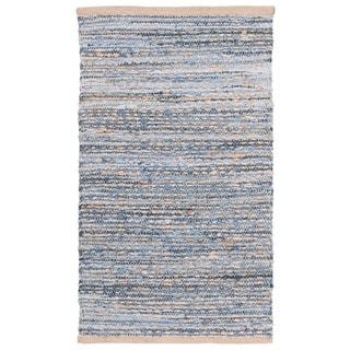 Safavieh Cape Cod Handmade Natural / Blue Jute Natural Fiber Rug (2' x 3')