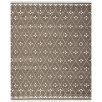 Safavieh Hand-Woven Natural Kilim Brown/ Ivory Wool Rug - 10' x 14'