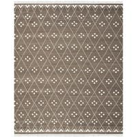 Safavieh Hand-Woven Natural Kilim Brown/ Ivory Wool Rug (10' x 14')