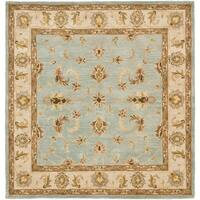 Safavieh Handmade Heritage Timeless Traditional Light Blue/ Beige Wool Rug (10' Square)