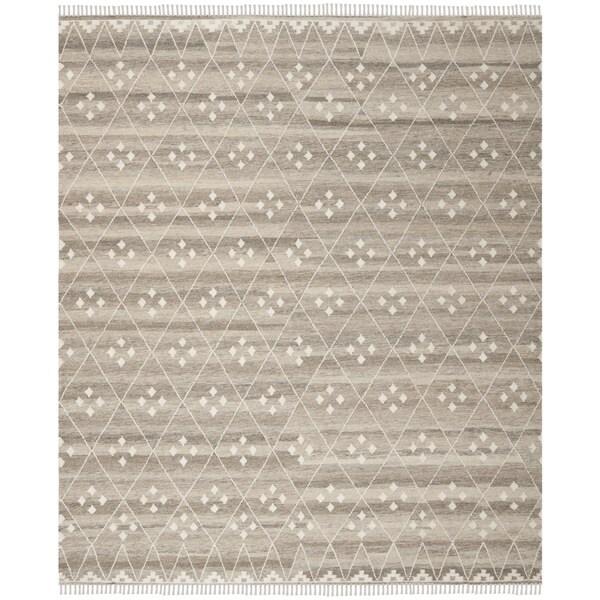 Safavieh Hand-Woven Natural Kilim Natural/ Ivory Wool Rug - 10' X 14'