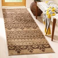 "Safavieh Adirondack Dixie Rustic Lodge Camel/ Chocolate Brown Rug - 2'6"" x 6'"