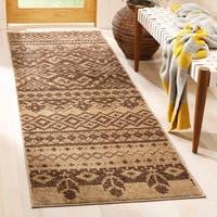Safavieh Adirondack Southwestern Camel/ Chocolate Brown Rug - 2' 6 x 6'