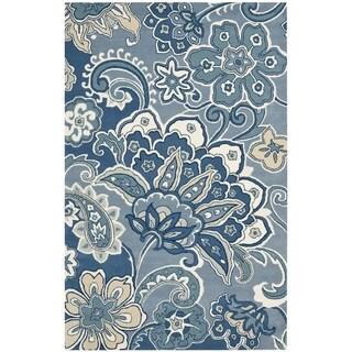 Safavieh Hand-Tufted Soho Blue/ Multi Wool/ Viscose Rug (7'6 x 9'6)