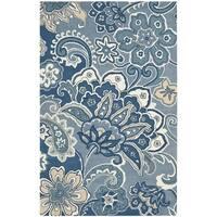 Safavieh Hand-Tufted Soho Blue/ Multi Wool/ Viscose Rug - 7'6 x 9'6