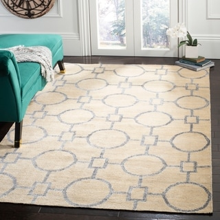 Safavieh Hand-Knotted Stone Wash Beige Wool/ Cotton Rug (8' x 10')