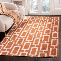 Safavieh Hand-Knotted Stone Wash Rust Wool/ Cotton Rug - 8' x 10'