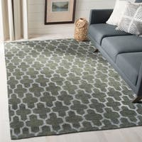 Safavieh Hand-Knotted Stone Wash Charcoal Wool/ Cotton Rug - 8' x 10'