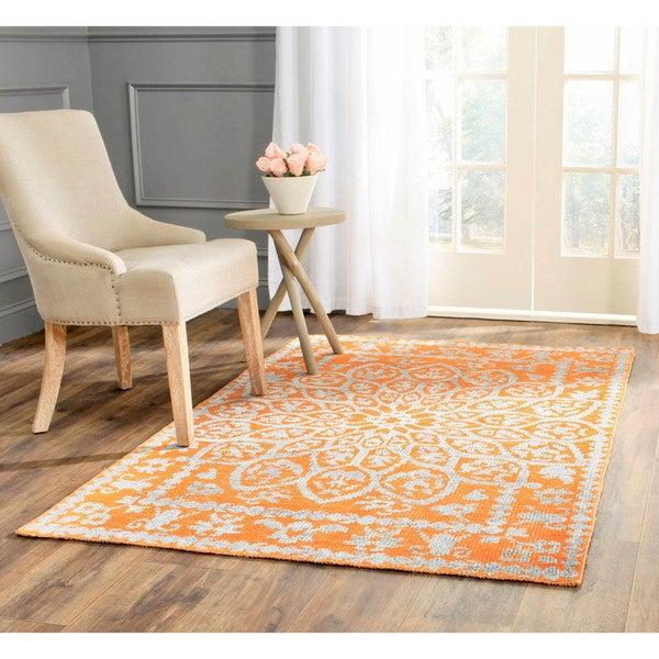 Safavieh Hand-Knotted Stone Wash Copper Wool/ Cotton Rug - 8' x 10'