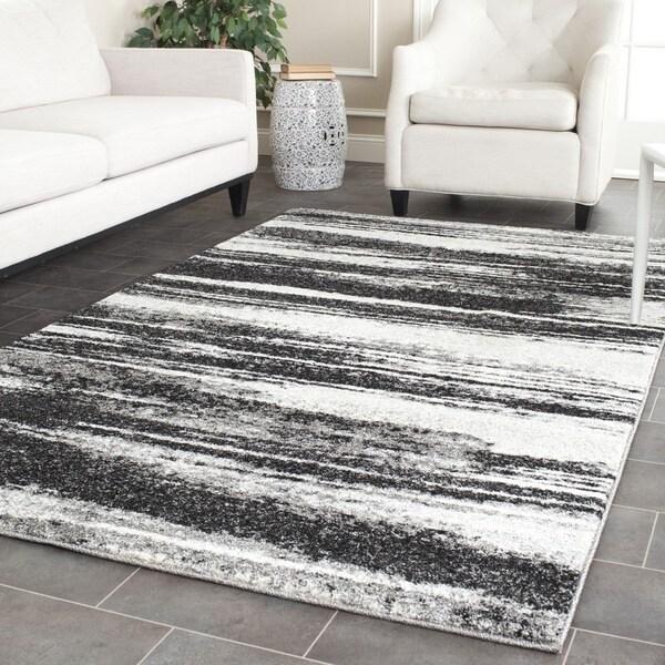 Safavieh Retro Modern Abstract Dark Grey/ Light Grey Distressed Rug - 10' x 14'