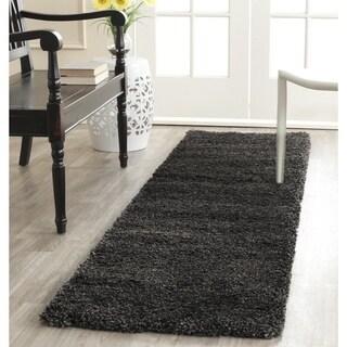 Safavieh Milan Shag Dark Grey Runner Rug (2' x 10')