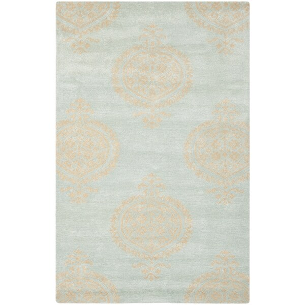 Shop Safavieh Hand-Tufted Soho Blue/ Beige Wool/ Viscose