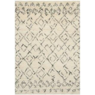 Safavieh Hand-Tufted Casablanca White/ Grey New Zealand Wool Rug (3' x 5')