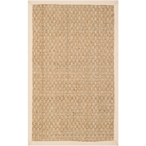 Safavieh Casual Natural Fiber Natural and Beige Border Seagrass Rug - 2' x 3'