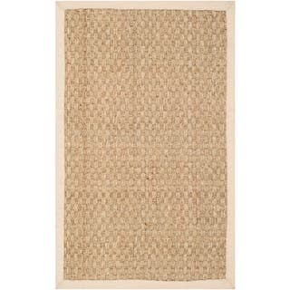 Safavieh Casual Natural Fiber Natural and Beige Border Seagrass Rug (2' x 3')|https://ak1.ostkcdn.com/images/products/9156577/P16335894.jpg?impolicy=medium