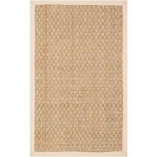 Safavieh Casual Natural Fiber Natural and Beige Border Seagrass Rug (2' x 3')
