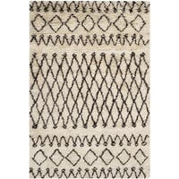 Safavieh Hand-tufted Casablanca Ivory/ Dark Brown New Zealand Wool Rug - 3' x 5'