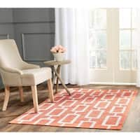Safavieh Hand-Knotted Stone Wash Rust Wool/ Cotton Rug - 5' x 8'