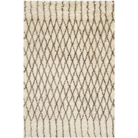 Safavieh Hand-Tufted Casablanca White/ Grey New Zealand Wool Rug - 3' x 5'