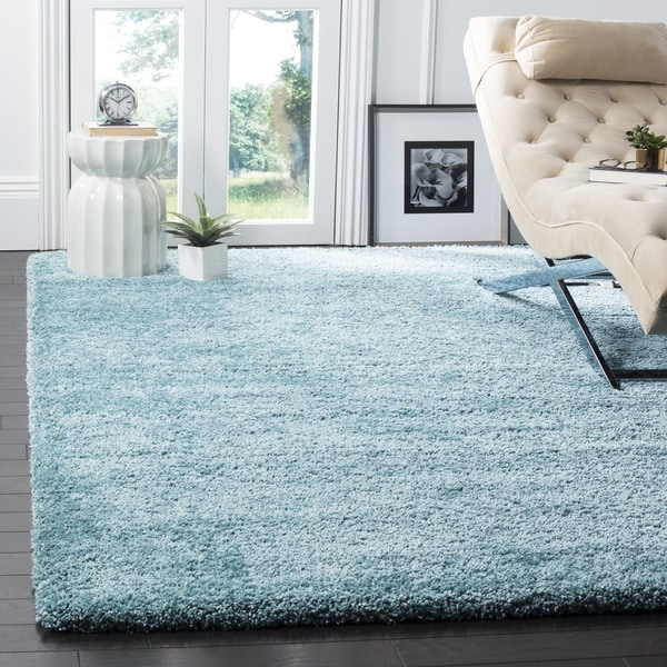 Shop Safavieh Milan Shag Aqua Blue Rug 10 X 14 On