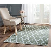 Safavieh Hand-Knotted Stone Wash Charcoal Wool/ Cotton Rug - 5' x 8'
