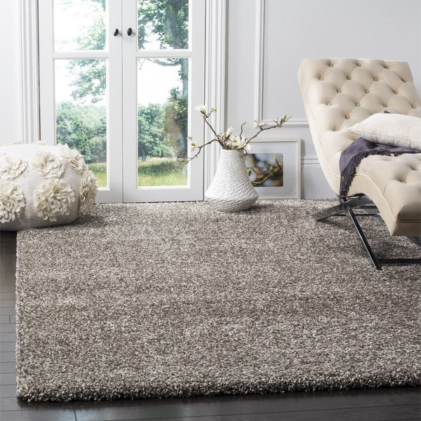 Shop Safavieh Milan Shag Grey Rug 10 X 14 On Sale