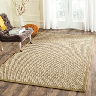 Safavieh Casual Natural Fiber Natural and Olive Border Seagrass Rug (2' x 3')