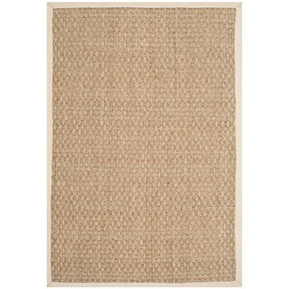 Safavieh Casual Natural Fiber Natural and Ivory Border Seagrass Rug - 2' x 3'