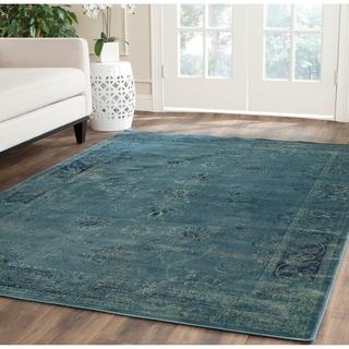 Safavieh Vintage Oriental Turquoise Distressed Silky Viscose Rug (10' x 14')