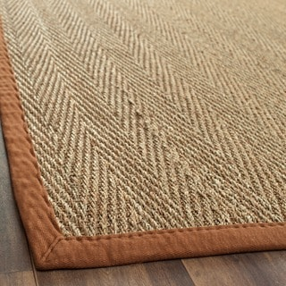 Safavieh Casual Natural Fiber Natural / Brown Seagrass Rug (2' x 3')