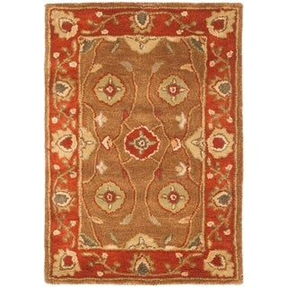 Safavieh Handmade Heritage Timeless Traditional Beige/ Rust Wool Rug (3' x 5')