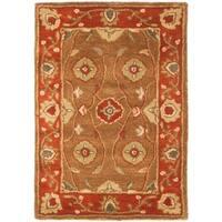 Safavieh Handmade Heritage Timeless Traditional Beige/ Rust Wool Rug - 3' x 5'