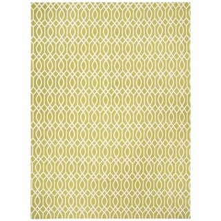 Safavieh Handmade Cedar Brook Lime/ Ivory Cotton Rug (8' x 11')