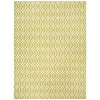 Safavieh Handmade Cedar Brook Lime/ Ivory Cotton Rug - 8' x 11'